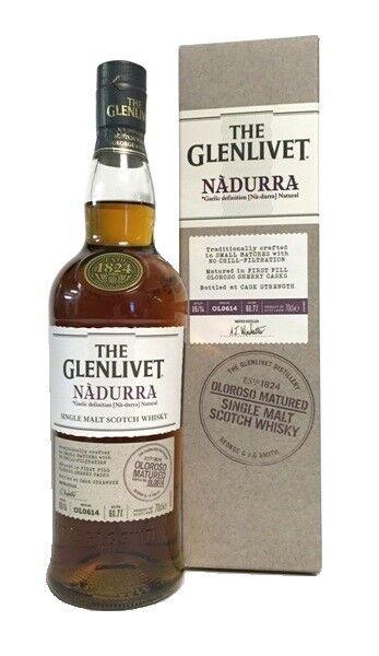 (70,41€/l) The Glenlivet Nadurra Oloroso Sherry Cask Scotch Whisky 60,3% 0,7l