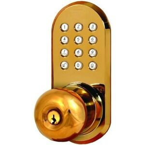 Image Is Loading WIRELESS Door Lock REMOTE Door Knob With Keypad