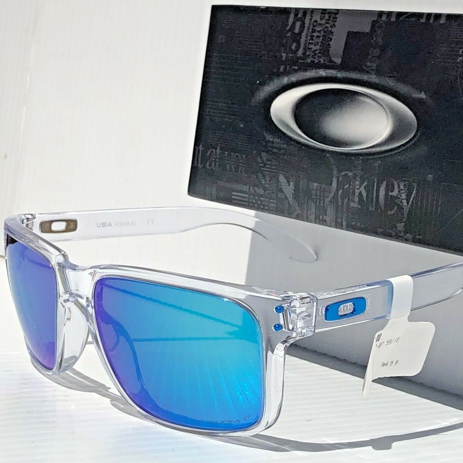 978dc86750 Oakley Holbrook Polished Clear Sapphire Iridium Prizm Polarized Lens XL  Oo9417 for sale online