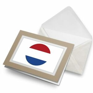 Greetings-Card-Biege-Netherlands-Flag-Map-9061