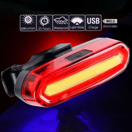 Bike USB Rechargeable Bicycle 5 Mode Taillight Flash LED Lamp Waterproof Light