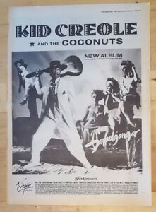 Kid-Creole-Coconuts-doppelganger-1983-press-advert-Full-page-39-x-28-cm-poster