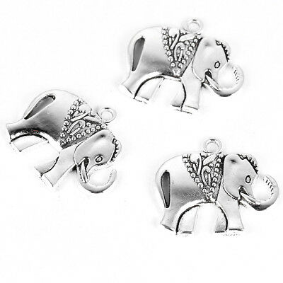 10//20//50pcs Tibetan Silver Elephant Pendentif Charm Beads Fit À faire soi-même Jewerly Findings