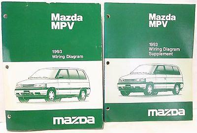 1993 MAZDA    MPV       Van    WIRING    DIAGRAM    Schematic    Shop       Service    MANUAL 2book   eBay