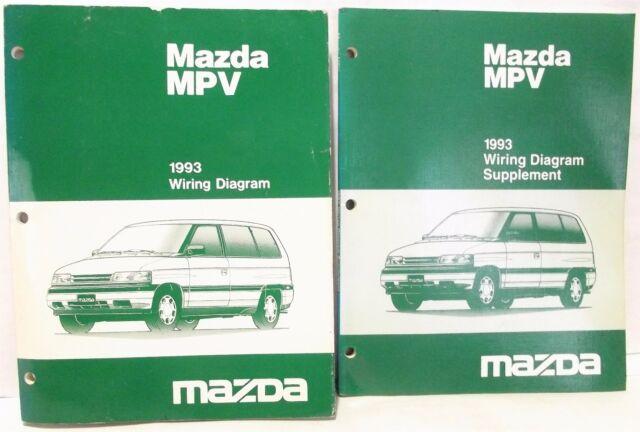 '1993 MAZDA MPV Van WIRING DIAGRAM Schematic Shop Service ...