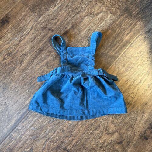 U Zara Baby Girl Green velour Dress 9-12 Months