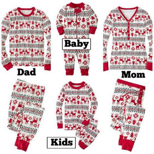 1 of 11FREE Shipping AU XMAS Family Matching Adult Women Kids Christmas  Nightwear Pyjamas Pajamas Set a538848e5