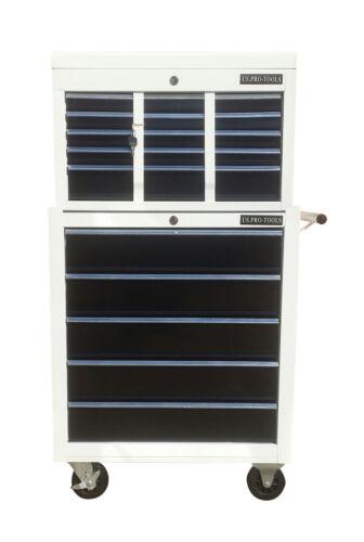 US Pro Tools Mechanics Tool Chest Box ROLLCAB Boite À Outils Rouleau Armoire 14 tiroirs