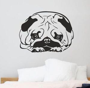 Details zu Wandaufkleber Wandtattoo Aufkleber Schlafzimmer Hund Hündchen  Mops Welpe 91