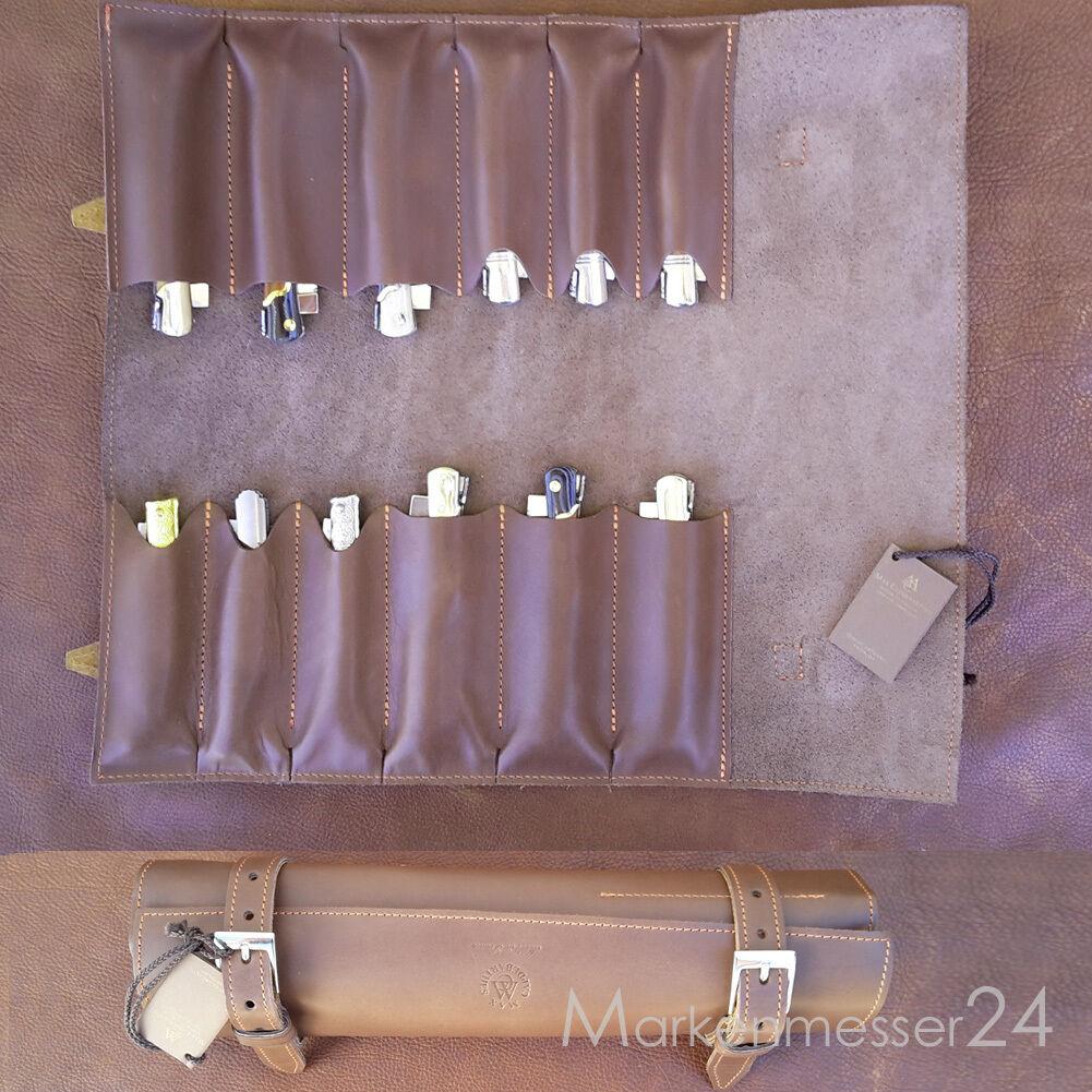 Hochwertige Leder Sammelmappe für 12 12 12 Taschenmesser von Max Capdebarthes braun 97ba5a