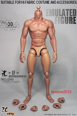 ZC 1/6 Scale Wolverine Strong Male Body Muscle Man Figure