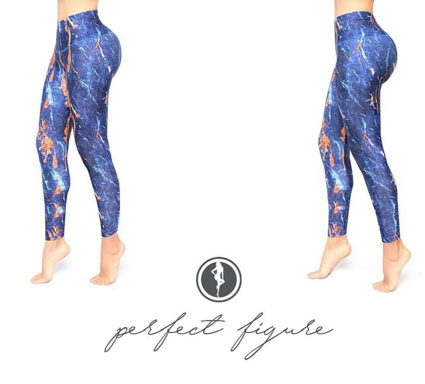 Bon Bon Up Compression Leggings with internal body shaper multycolor stamped1158