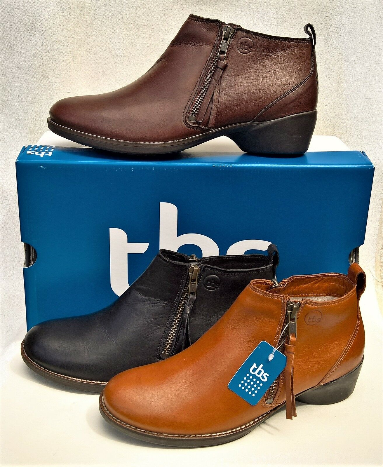New Leather Ankle Boots - TBS shoes France France France Leather - Girlye bda27d