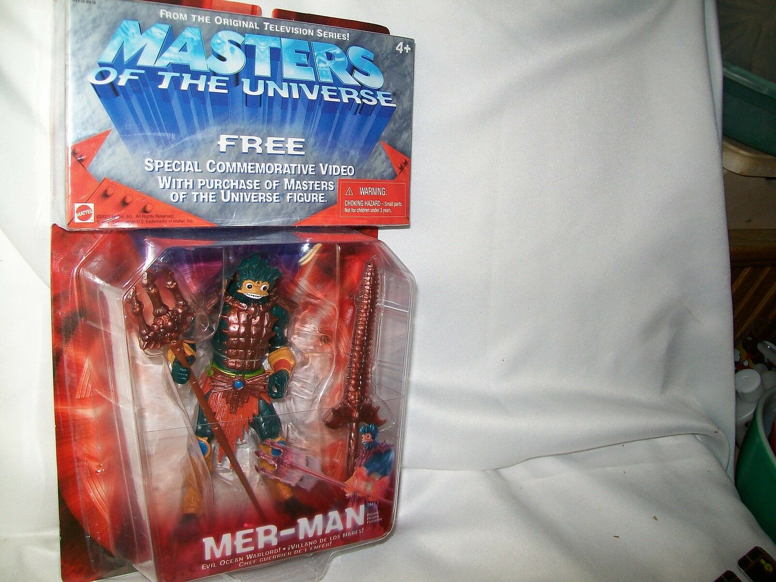 MASTERS OF THE UNIVERSE MER-MAN EVIL OCEAN WARLORD 2001 SEALED NEW MIP