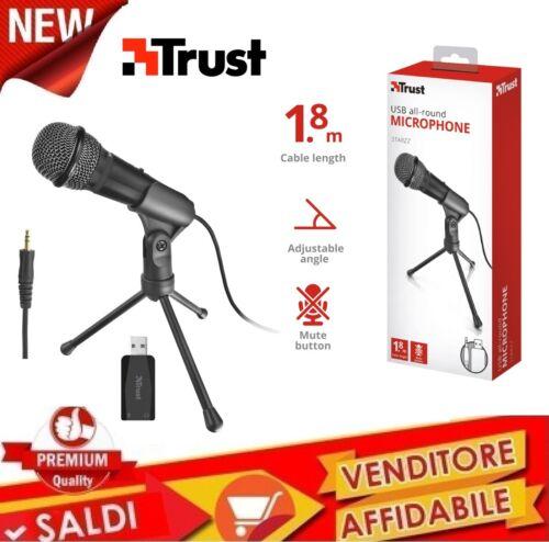 Mikrofon Trust Starzz USB 21993 Schwarz Mikrofon mit Basis Stativ HD Audio
