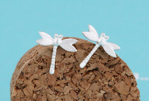 Ear Studs Earrings Dragonfly Insect Dragonfly 925 Sterling Silver