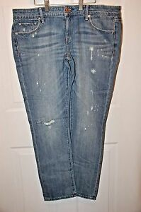American-Eagle-Skinny-Faded-Destroy-Wash-Low-Rise-Destructed-Jeans-Sz-14R