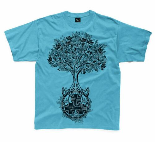 Celtic Spiral Tree of Life Kids Children/'s T-Shirt Druid Wicca Pagan