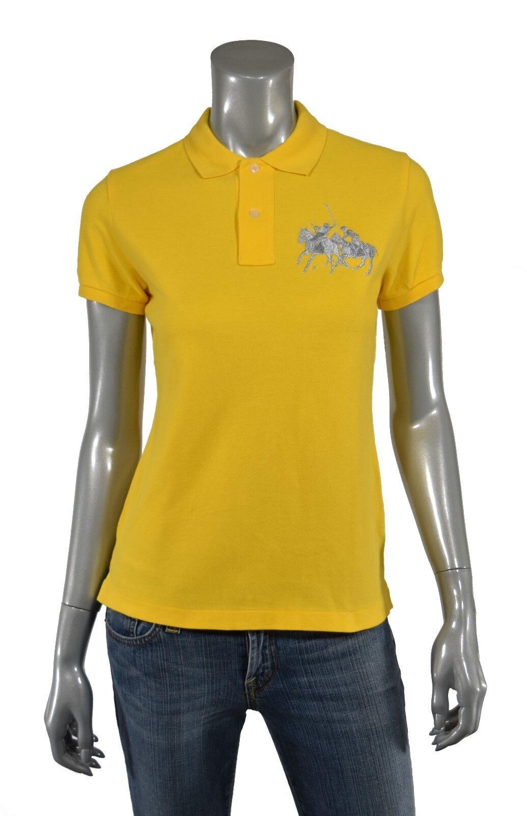 Damen Ralph Lauren Skinny Dual Match Polohemd DAMEN