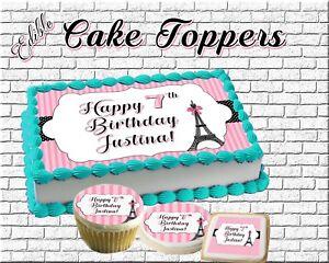 Feesten Speciale Gelegenheden Taartdecoraties Rainbow Unicorn Face Birthday Cake Topper Edible Paper Sugar Sheet Cupcakes Easy