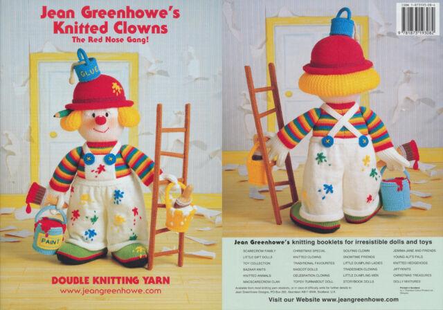 Jean Greenhowe Strickbuch Clowns Gestrickt Stricken Spielzeug bunte ...