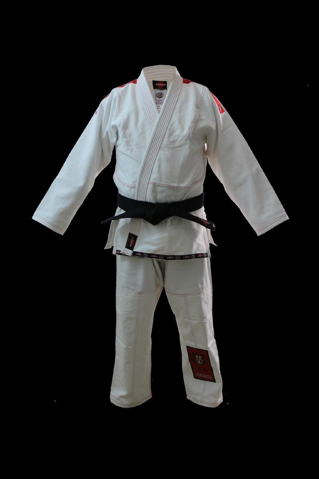 KANKU White Jiu jitsu Gi uniform, Bjj Uniform,  550 gram gold Weave MMA Aikido  best offer
