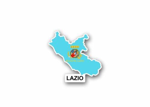 Autocollant sticker carte drapeau region italie province latium lazio