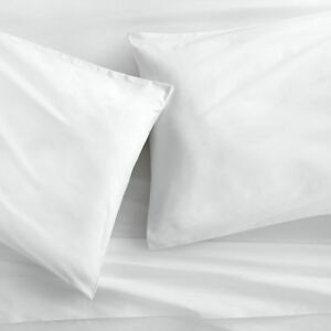 Image Is Loading 300tc Egyptian Cotton Sheet Set Percale Solid White