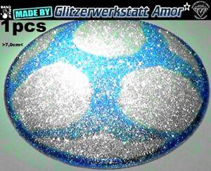 1-034-Pcs-Glitzer-Auto-KFZ-Metall-Plakette-Aufkleber-CrazyTuning-Einzelstueck-by-Amor