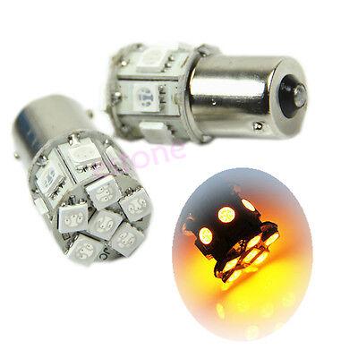 2pcs 1156 13 SMD 5050 Amber/Yellow Tail Turn Fog Signal LED Car Light Bulb Lamp