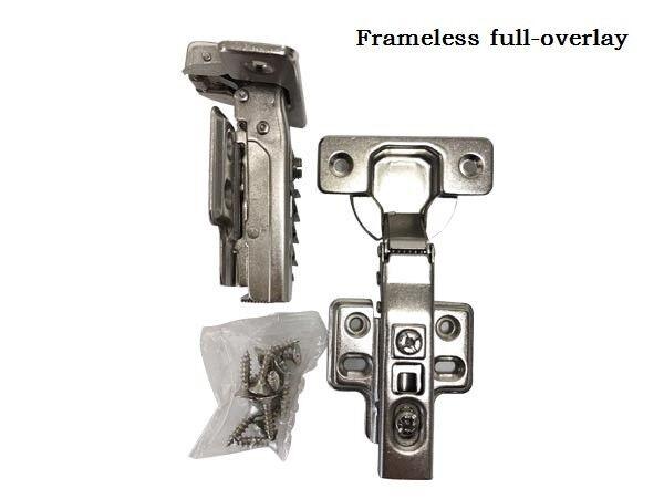 ONUS 509T Full Overlay Self Close Frameless Cabinet Hinges Door Hinges