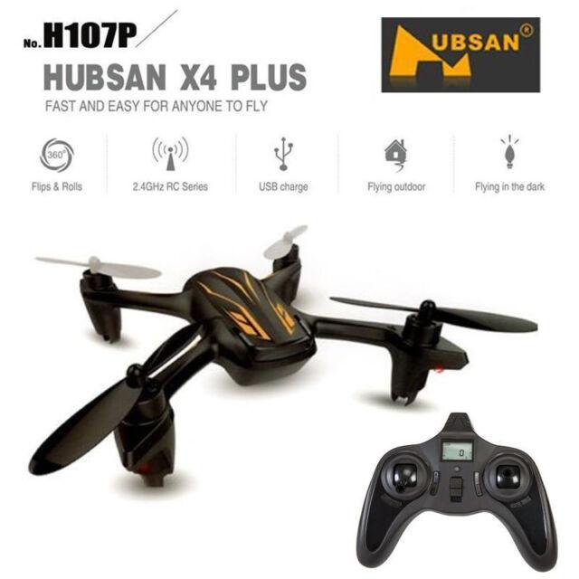 Hubsan X4 H107P 2.4 G 4CH Mini RC Quadricoptère Drone avec maintien d'altitude DEL prêt à voler