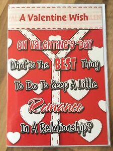 ❤️Valentines Day Card❤️Romance In A Relationship- In His Lunchbox❤️New & Sealed.