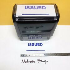 New Listingissued With Line Rubber Stamp Blue Ink Self Inking Ideal 4913