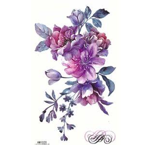 Temporaeres-Tattoo-Blumen-Design-Temporary-Klebetattoo-Koerperkunst