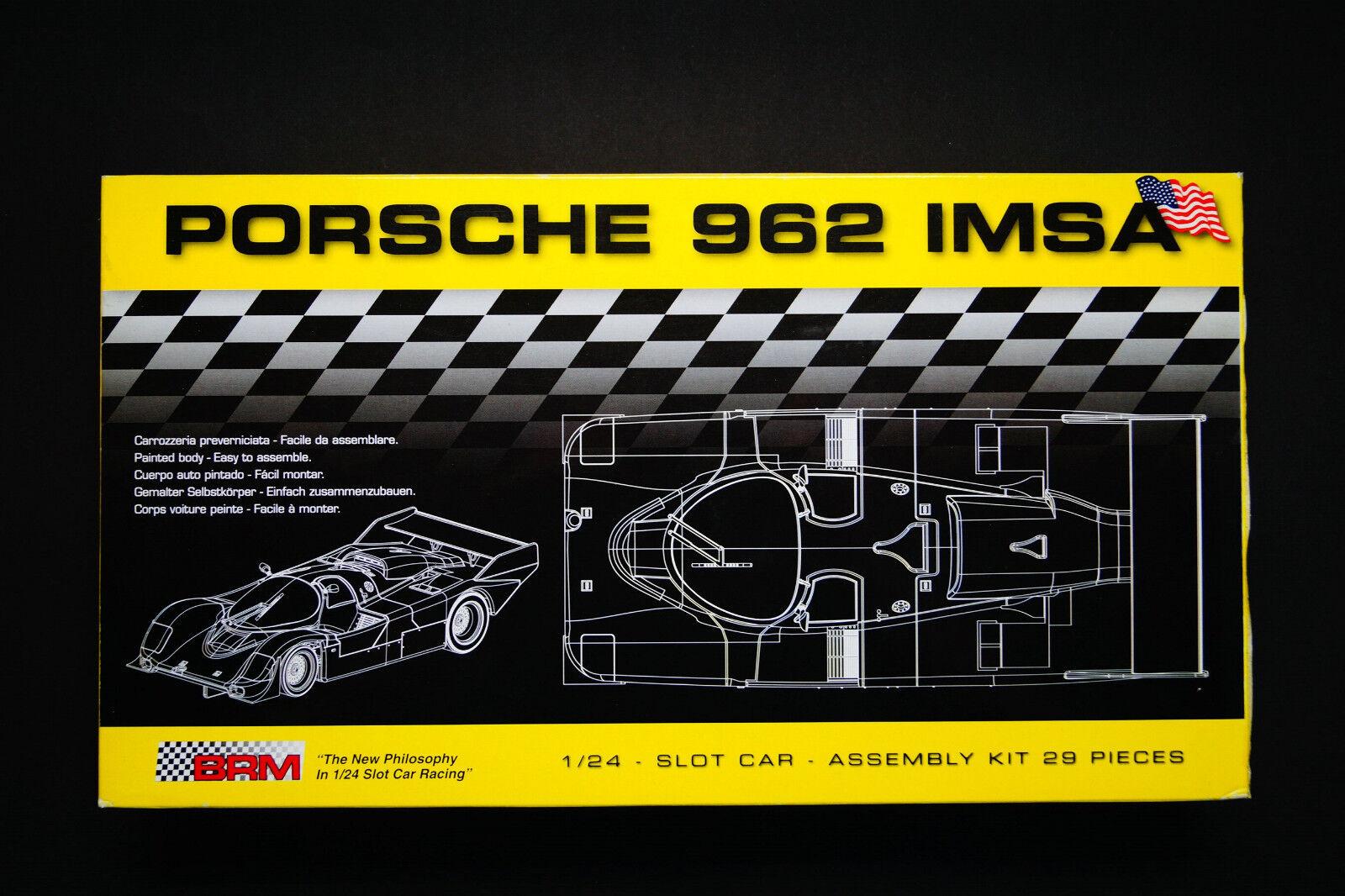 Porsche 962 IMSA Slotcar Kit 1 24 Autorennbahn BRM008
