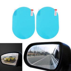 2* Oval Car Auto Anti Fog Rainproof Rearview Mirror Protective Film Accessories