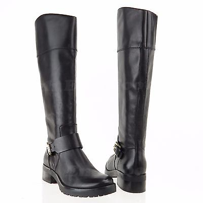 Michael Kors Gansevoort Women's Shoes Black Leather Knee High Boots Sz 5 M NEW!