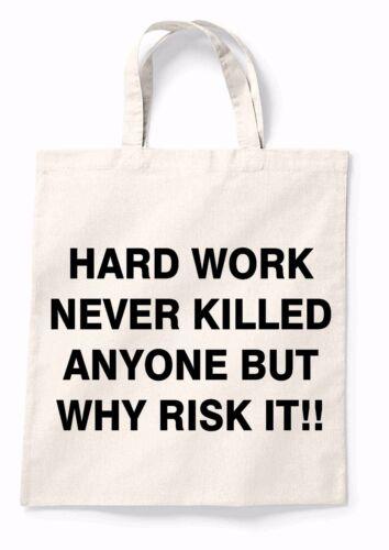 Hard Work Canvas Tote Shopping Bag Cotton Printed Shopper Bag Xmas Gift