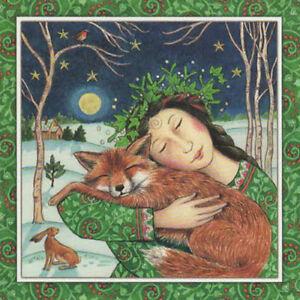 Yule xmas greeting card starry fox hug pagan wiccan goddess wendy image is loading yule xmas greeting card starry fox hug pagan m4hsunfo