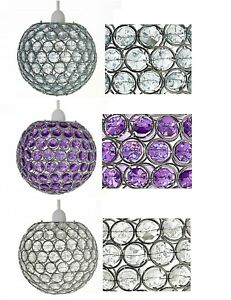 CEILING-LIGHT-SHADE-PENDANT-ACRYLIC-ROSA-BALL-CHANDELIER-ACRYLIC-EFFECT-JEWELS