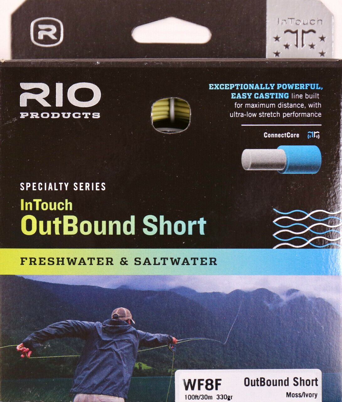 Rio InTouch Outbound Short WF8F 330 Grain Fly Line gratuito Fast Shipping 621303