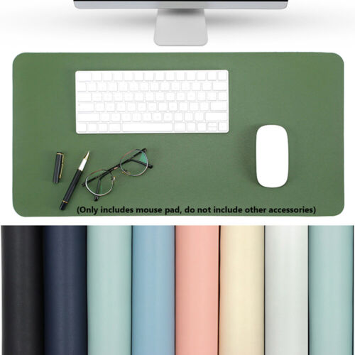 New Leather Mouse Pad Office Laptop Table Mat Game Desk Cushion Double-sided