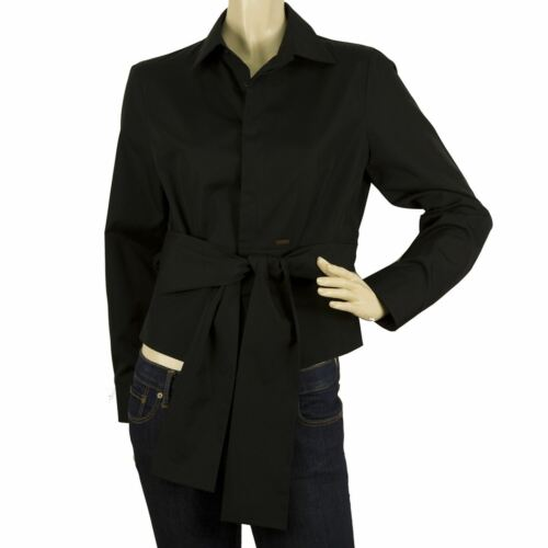 DSquared 2 Black Button Down Front Womans Long Sle