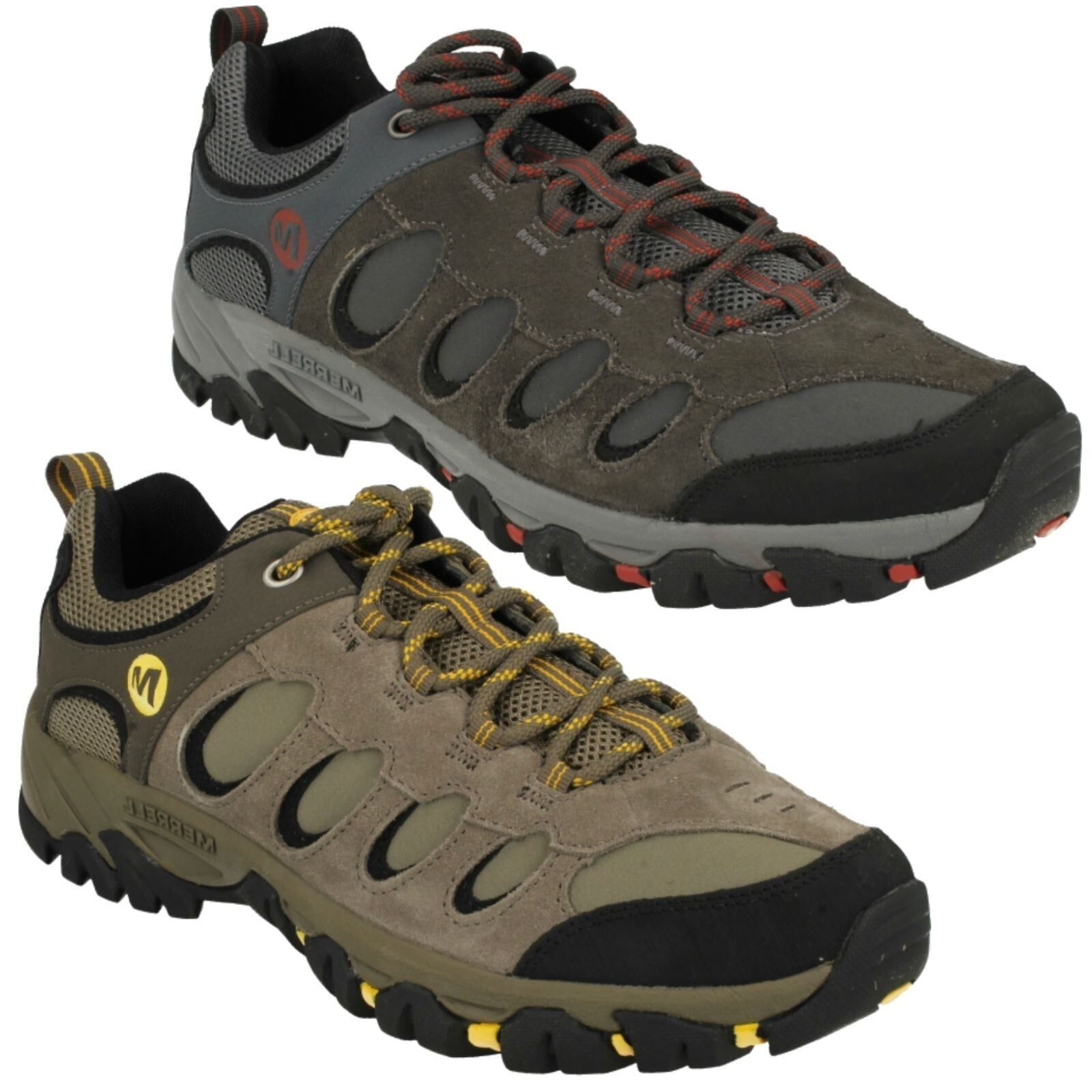 MENS MERRELL RIDGEPASS BOLT LEATHER LACE UP OUTDOOR WALKING TRAINERS SHOES