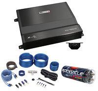MB Quart XA1-1000.1D 1000 Watt RMS Mono Class D Car Amplifier+Amp Kit+Capacitor