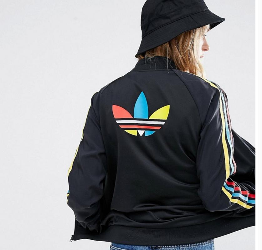 Details about Adidas Classic Rasta Sexy Firebird Track Top Jacket Black Zip Hip Hop Style Gay