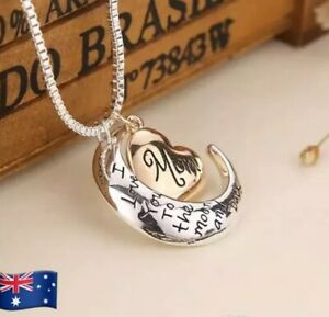 MOM-I-Love-You-to-the-Moon-and-Back-Necklace-amp-Pendant-Great-Mother-039-s-Day-Gift