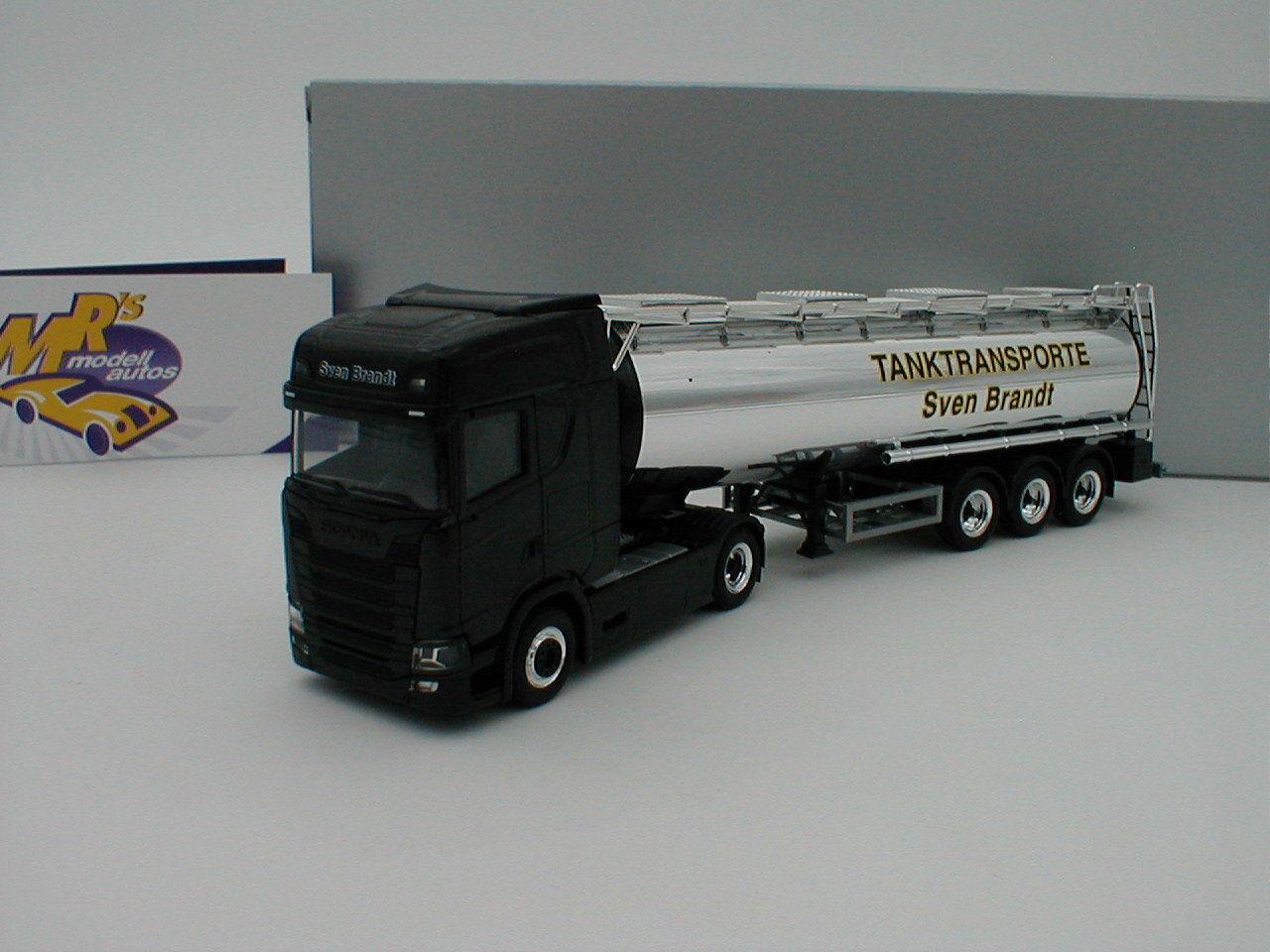 Herpa 932684 - Scania CS HD Tank-Sattelzug   Tanktransporte Sven Brandt   1 87
