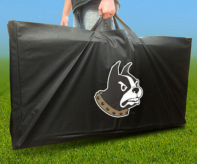 WOFFORD TERRIERS Licensed CORNHOLE Board CARRYING CASE Storage Carry Bag